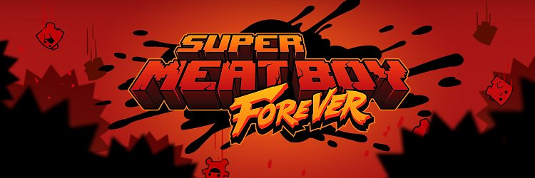 Sexy new Super Meat Boy Forever logo for your eyeballs. https://t.co/0kQBxqgVnm