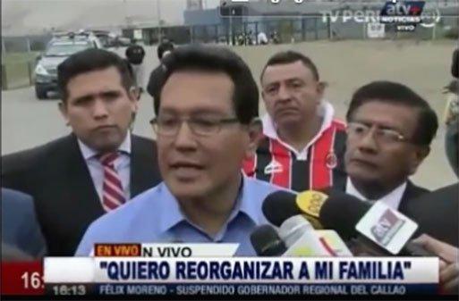 Suspendido Gobernador Regional del Callao Félix Moreno salio en libertad y brindo declaraciones.