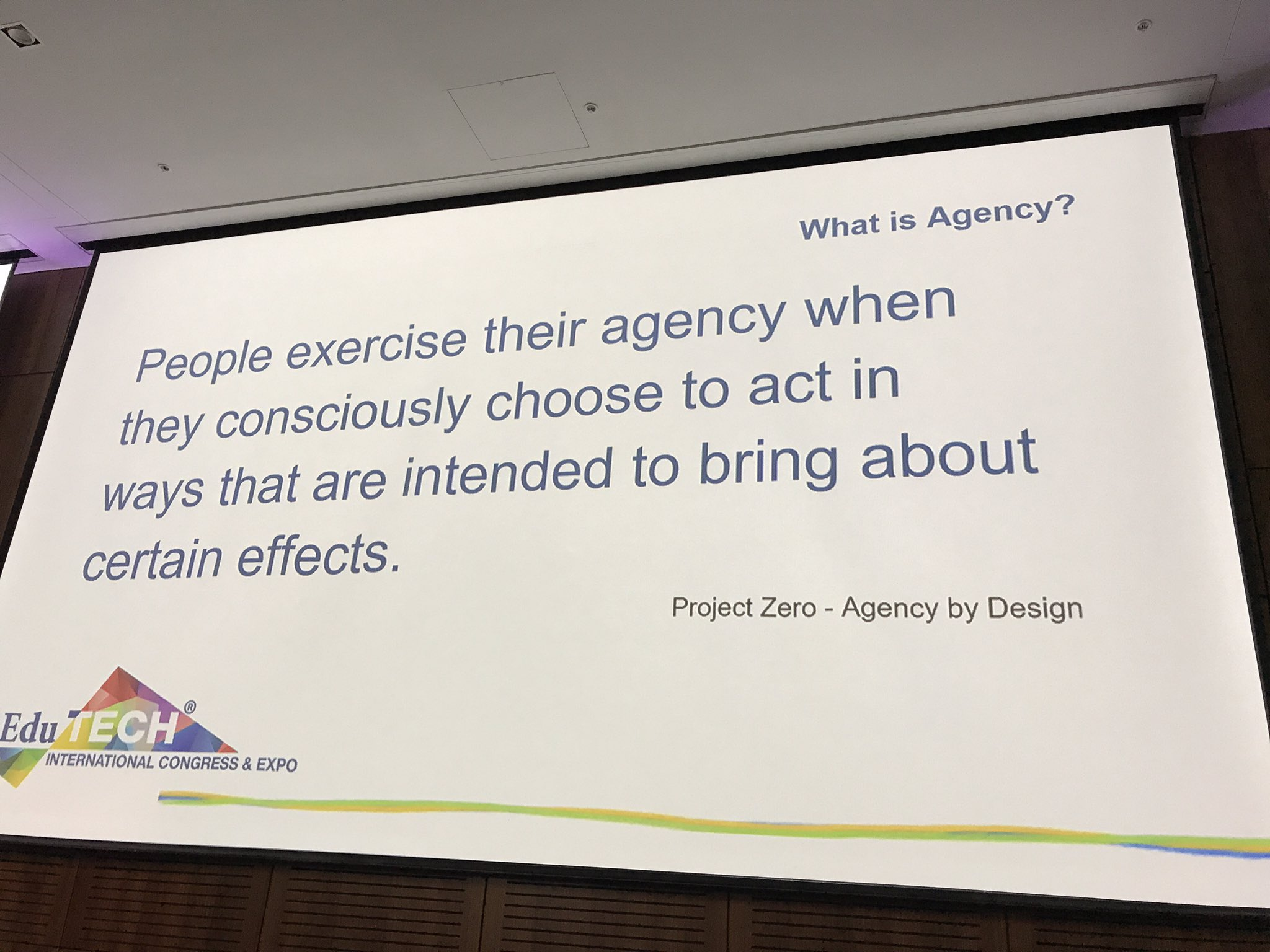 Think about how to provide students with agency #EduTECHAU https://t.co/Ktn1cFE6NG
