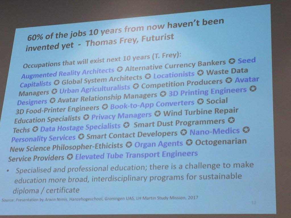 Future jobs but not too far off! #edutechau https://t.co/J8RAtKXs2j