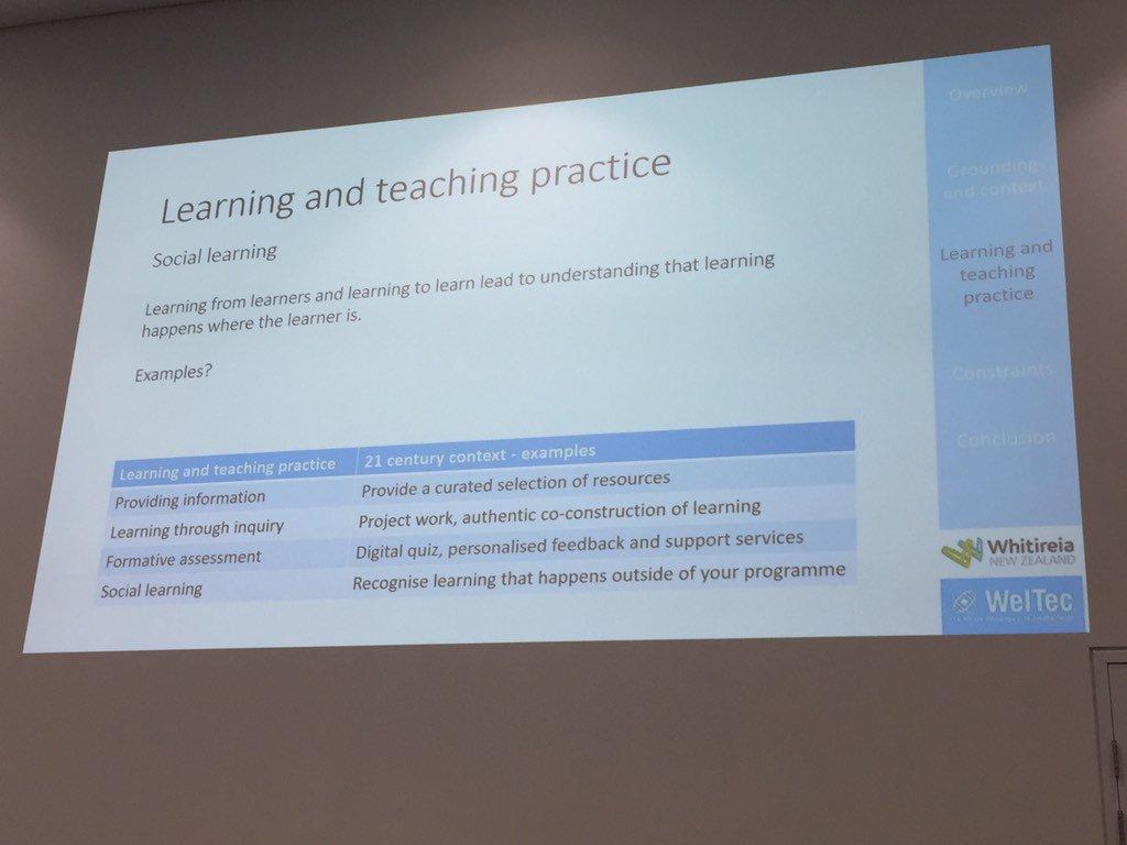 Shift in teaching and learning practice #edutechau https://t.co/atNrExQGm3