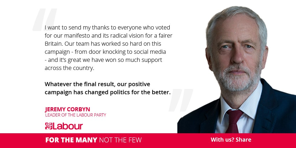 Whatever the final result, our positive campaign has changed politics for the better. https://t.co/EHLta2rnIW