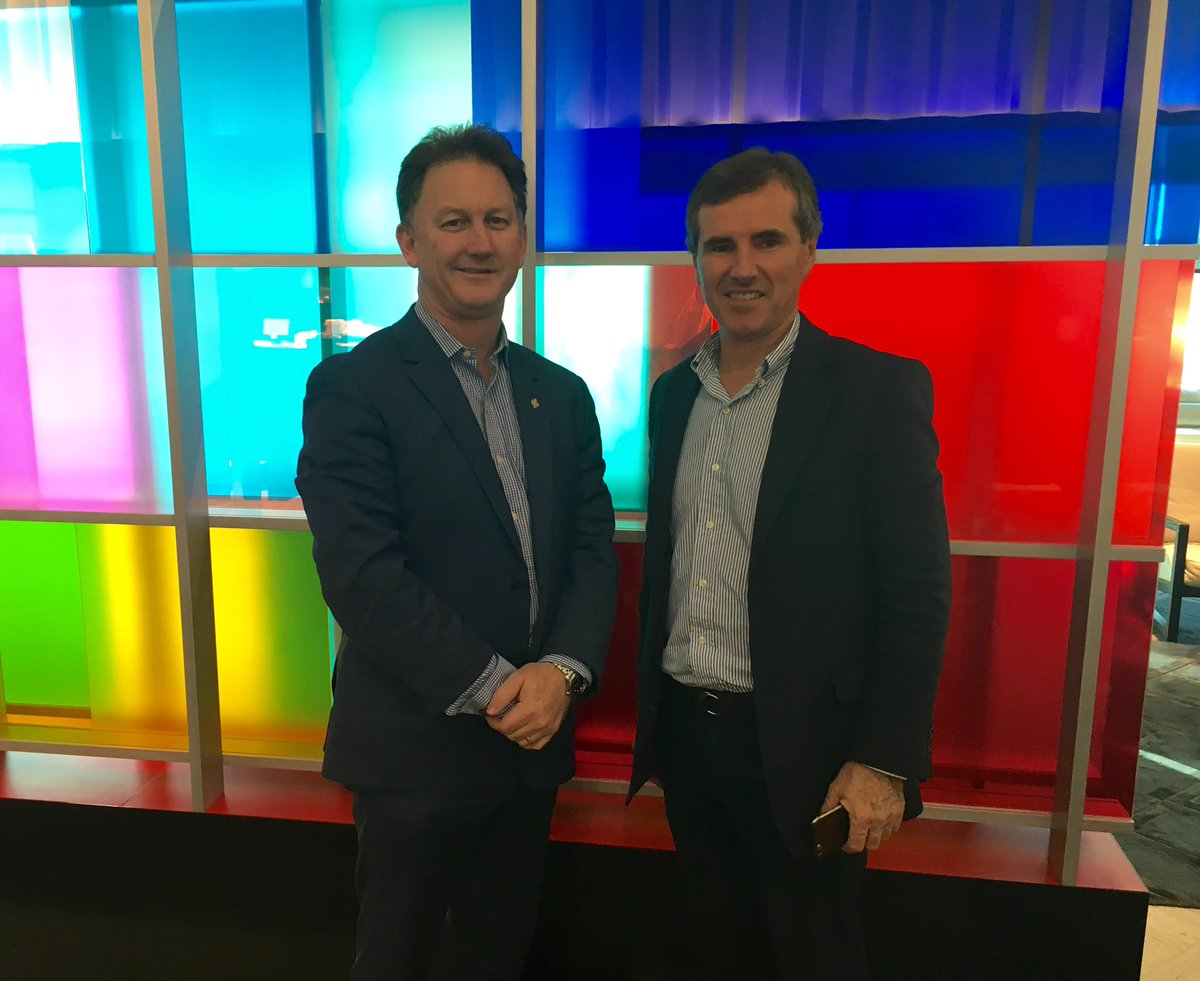 Dr Michael Gannon and Professor Bruce Robinson