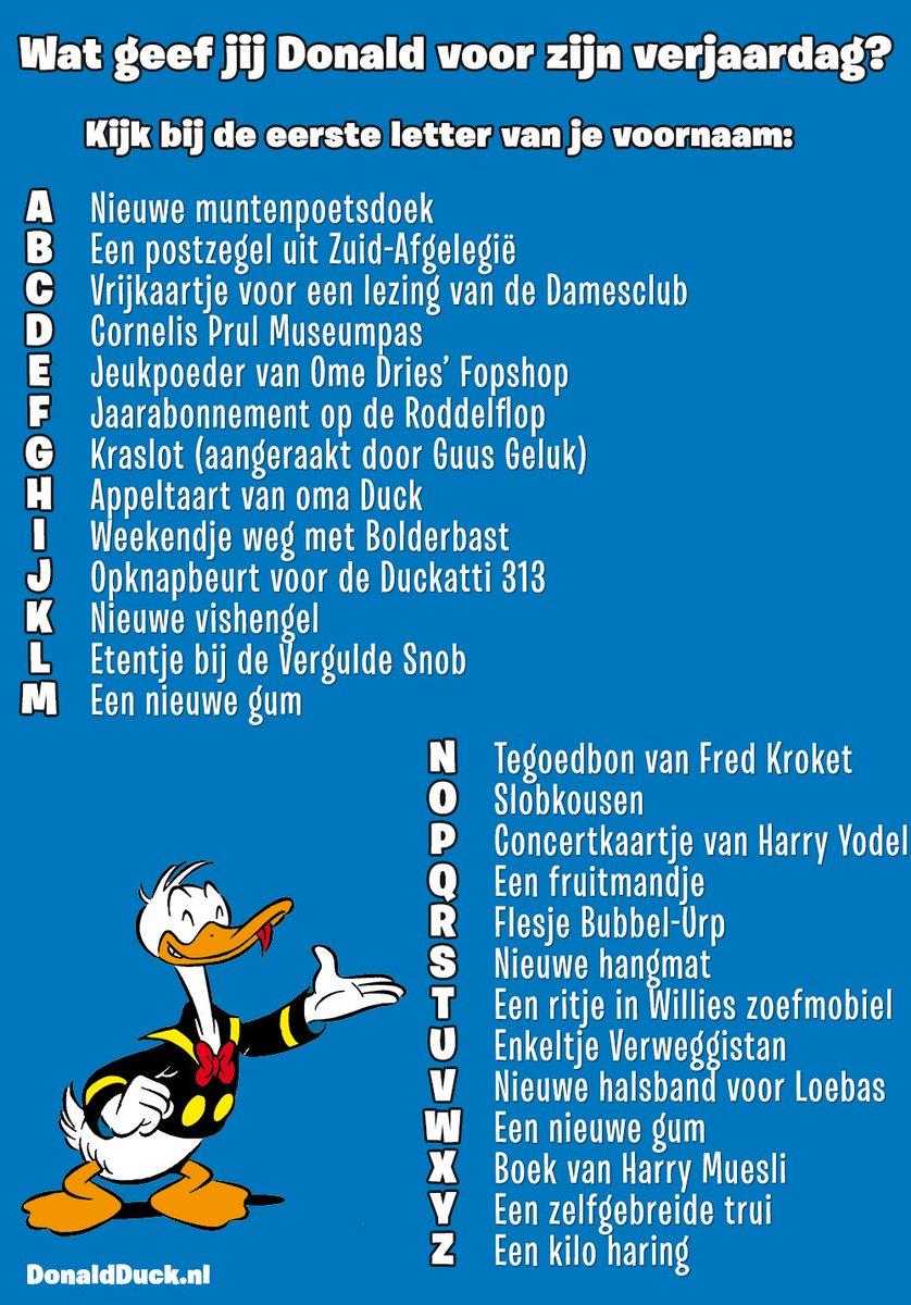 ο χρήστης Donald Duck στο Twitter Hoera Deze Woerd Is