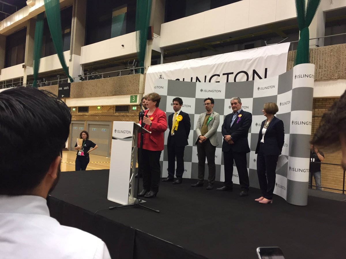 """Islington South @EmilyThornberry elected """"If anyone has been strong and stable in this election it's Jeremy Corbyn"""". https://t.co/5Rw6IKokyB"""
