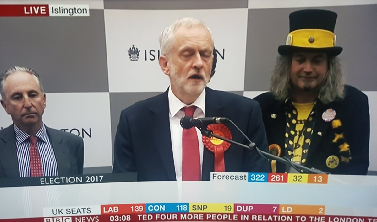 Excellent photobomb from Willy Wonka's Evil Twin Brother... #Election2017 https://t.co/w0Sss3b0Xe