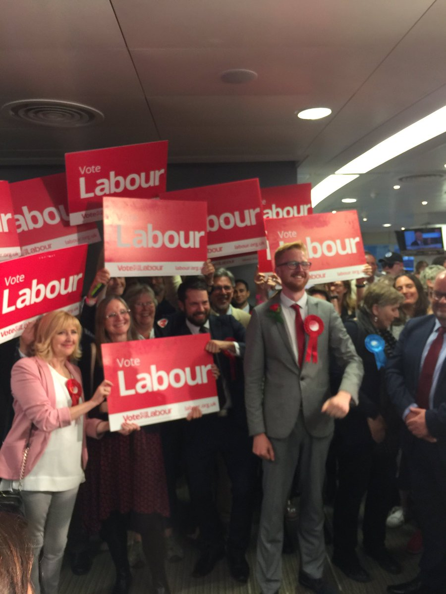 Labour GAIN at Brighton #Kemptown! @lloyd_rm - 28,703 votes, a majority of just under 10,000! #GE2017 https://t.co/QscdfLDmfo