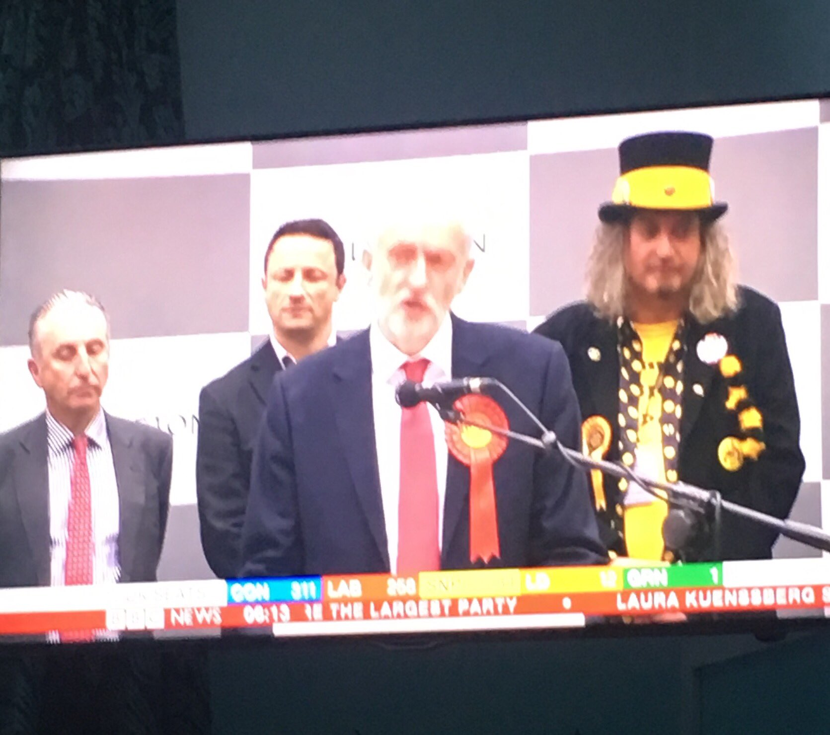Always enjoy a Monster Raving Loony party dude in background. #GE17 https://t.co/o3lR3kAWYK