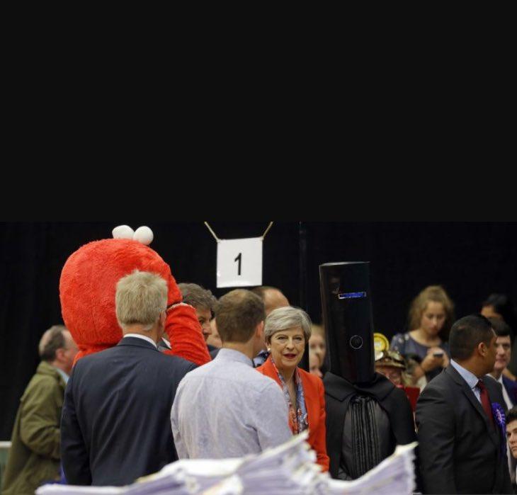 Lord buckethead & Elmo. And Theresa May. #GE17 https://t.co/GANtFUjTlS