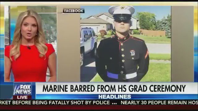 Meanwhile, The #Marxists Who Run Our Schools   Ban #Marine Marching At His Graduation  For Wearing His Uniform  https://t.co/00nL1Cmgps