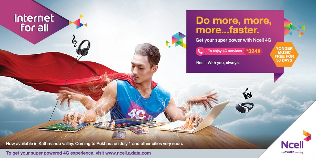 """Ncell ar Twitter: """"Do more, more, more   faster  Switch your"""