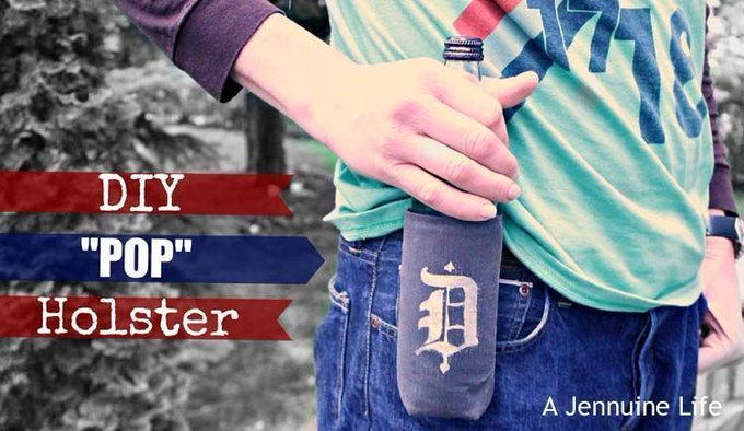 "Fathers Day Craft: DIY ""Pop"" Beverage Holder"