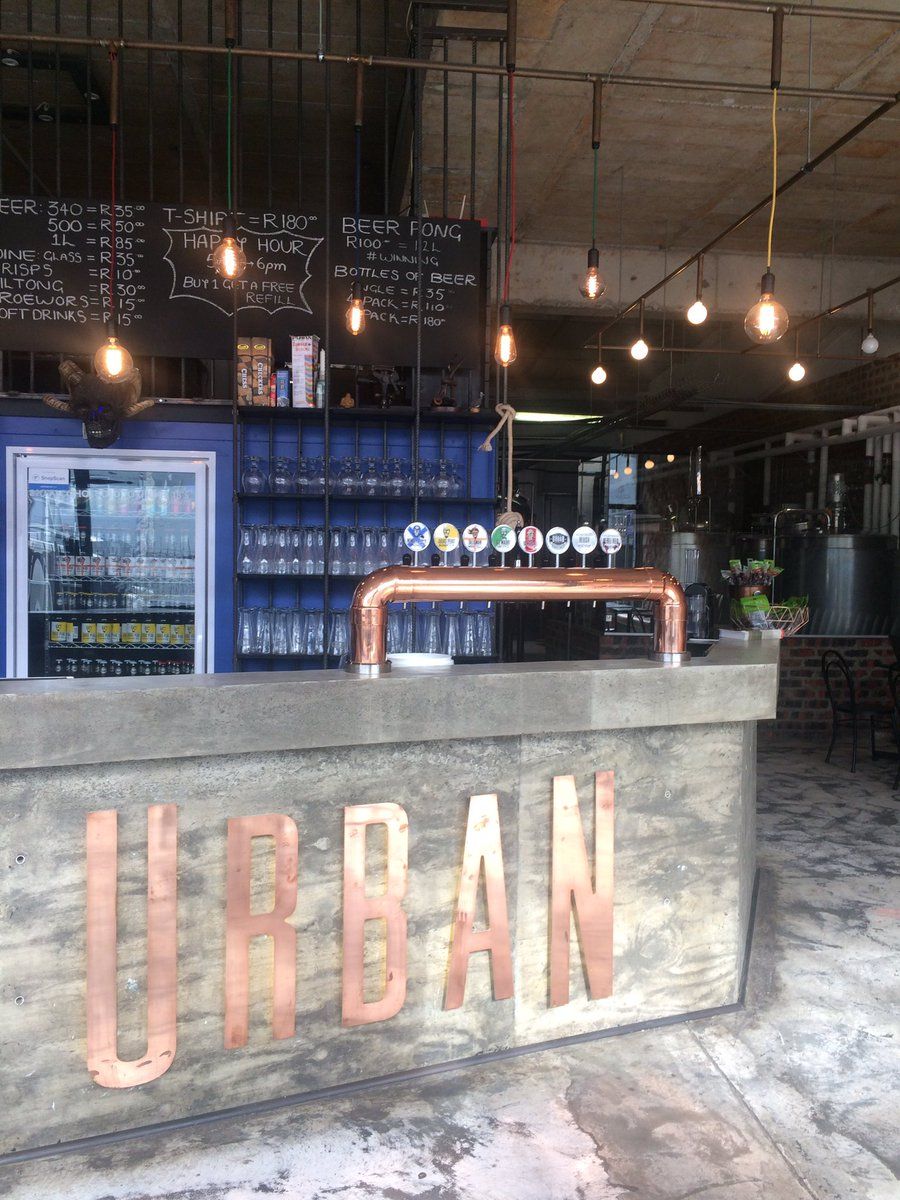 1st stop for the day is the epic @urbanbrewingco in Hout Bay for our #CraftCrewDay feature on new breweries in @capetown. Love the space!!pic.twitter.com/ ...