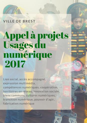 L'appel à projet 2017 de la ville de Brest Usages du numérique est lancé ! Clôture le 8 septembre 2017. #Brest  https://t.co/wZHCueH8zg https://t.co/A6s5wilww6