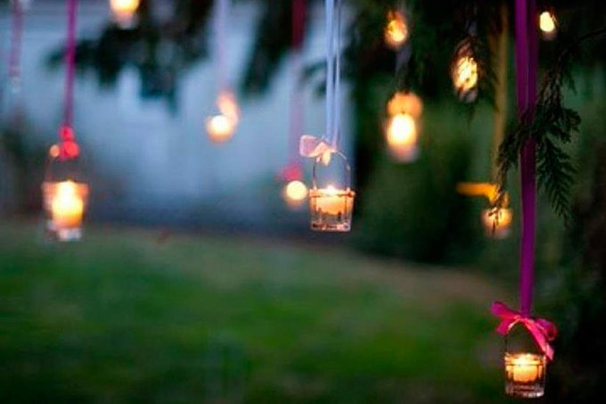 diy garden party lights