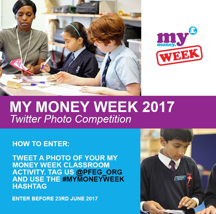 Good luck to all schools taking part in #mymoneyweek next week! Don't forget to enter our photo contest to win £100 Amazon vouchers!! https://t.co/1zHsD8woVA