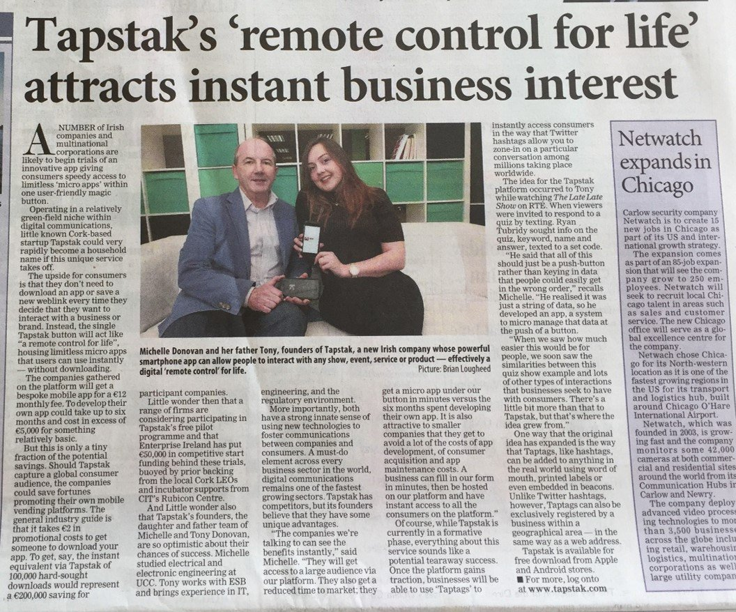 test Twitter Media - Thanks @JoeDermody for the great piece on @TAPSTAK in the @irishexaminer this morning! https://t.co/PbHA7B4dFd https://t.co/zieonKjUfs