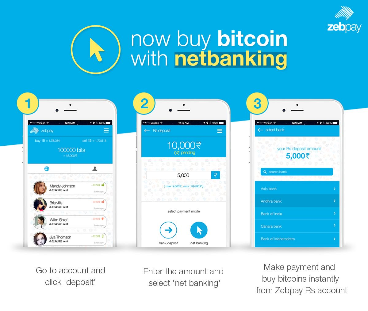 Zebpay on twitter buy bitcoins via netbanking download zebpay app 455 am 9 jun 2017 ccuart Gallery