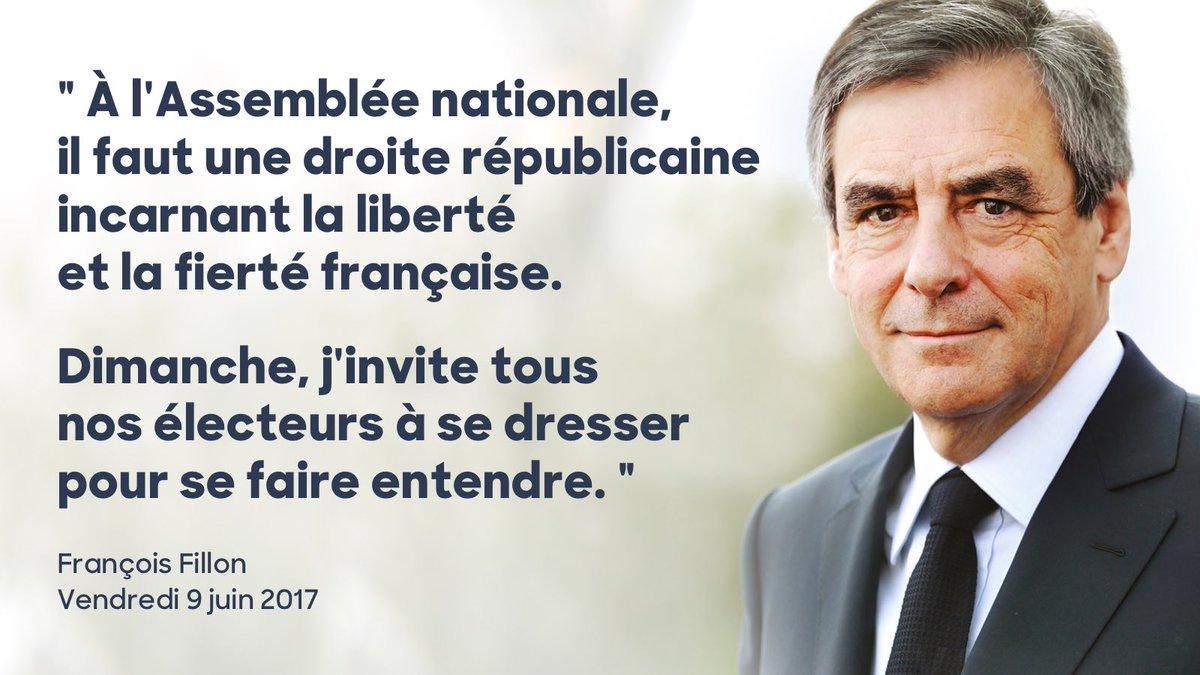 Dimanche, j'invite tous nos électeurs à se mobiliser en faveur des candidats investis par la droite et le centre. #MajoritéPourLaFrance