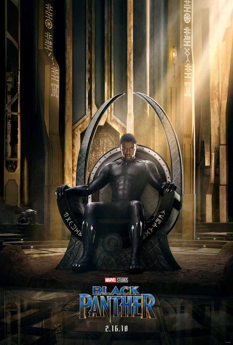 T'Challa takes the throne in the first poster for Marvel's 'Black Panther'
