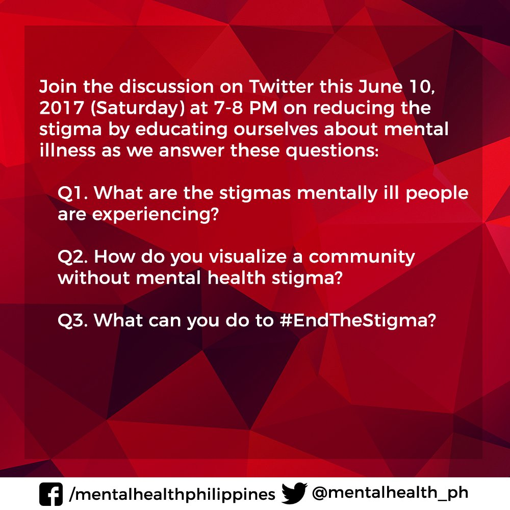 Mentalhealthph On Twitter Join The Discussion On June 10 7 8pm