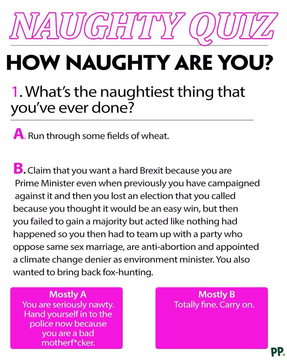How naughty am i quiz