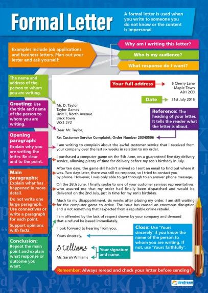 ONLINE ENGLISH SKILLS On Twitter How To Write A Formal Letter ESL