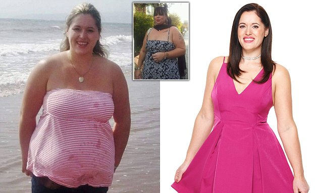 Obese woman slims down to a size 10 to save her life after her 17 stone
