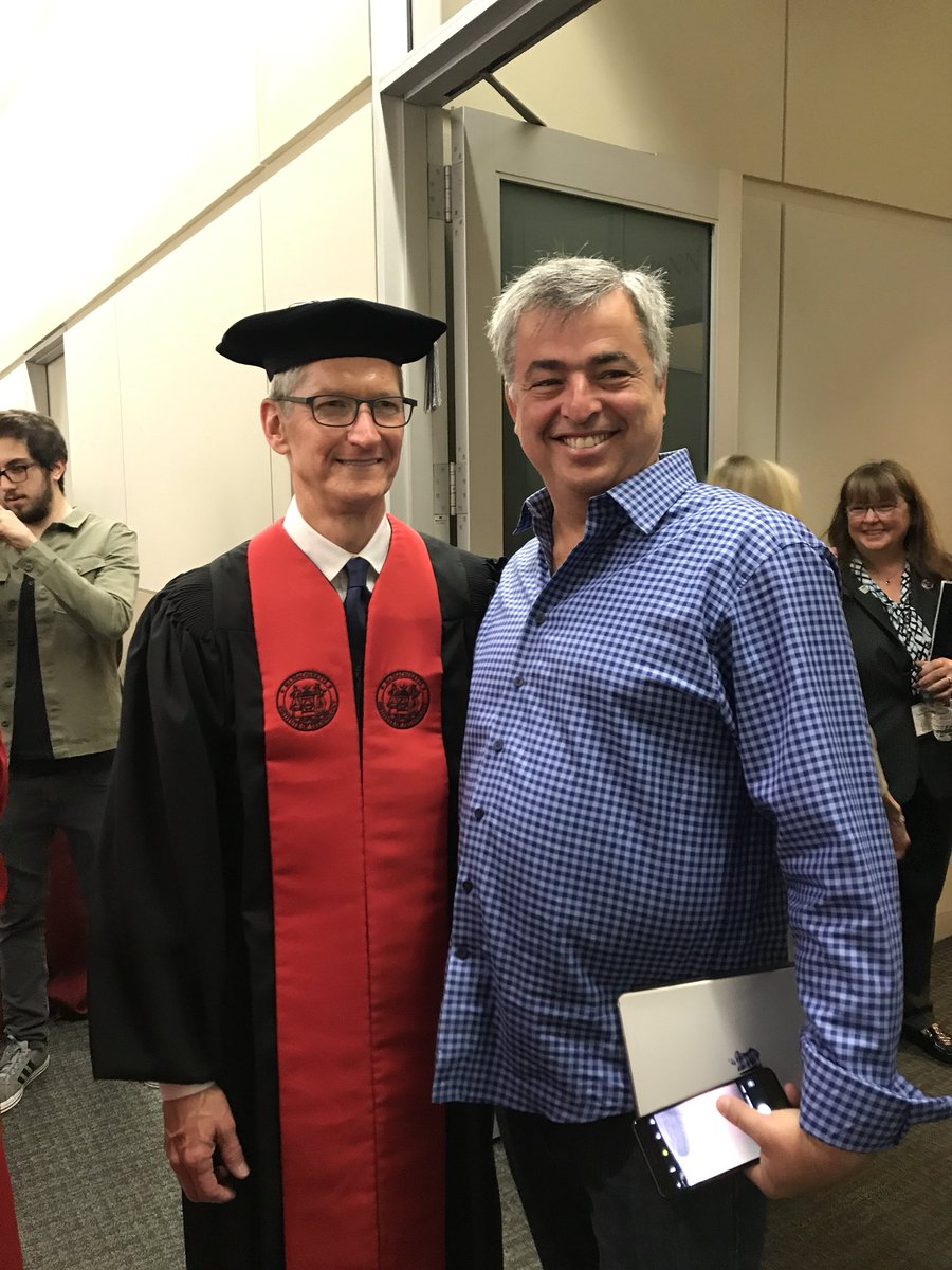 For the second time in a week I'm waiting for @tim_cook to hit the stage! Today at #MIT2017 -- congratulations graduates!