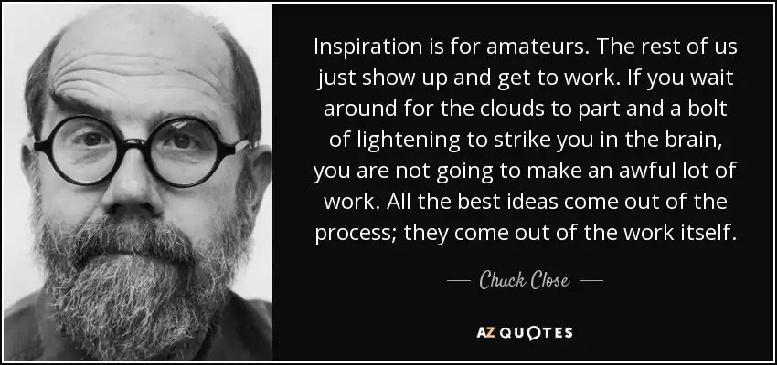 """Inspiration is for amateurs…"" https://t.co/qGiRsySEBt"