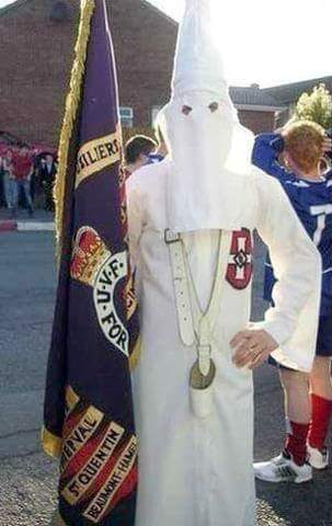 Northern Irish Ku Klux Klan supporter