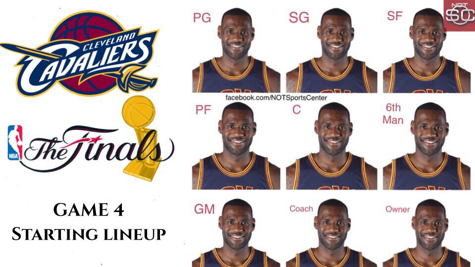 BREAKING: The Cavs have announced their starting lineup for #NBAFinals Game 4, which includes some major changes: https://t.co/xSkFNGqcAf