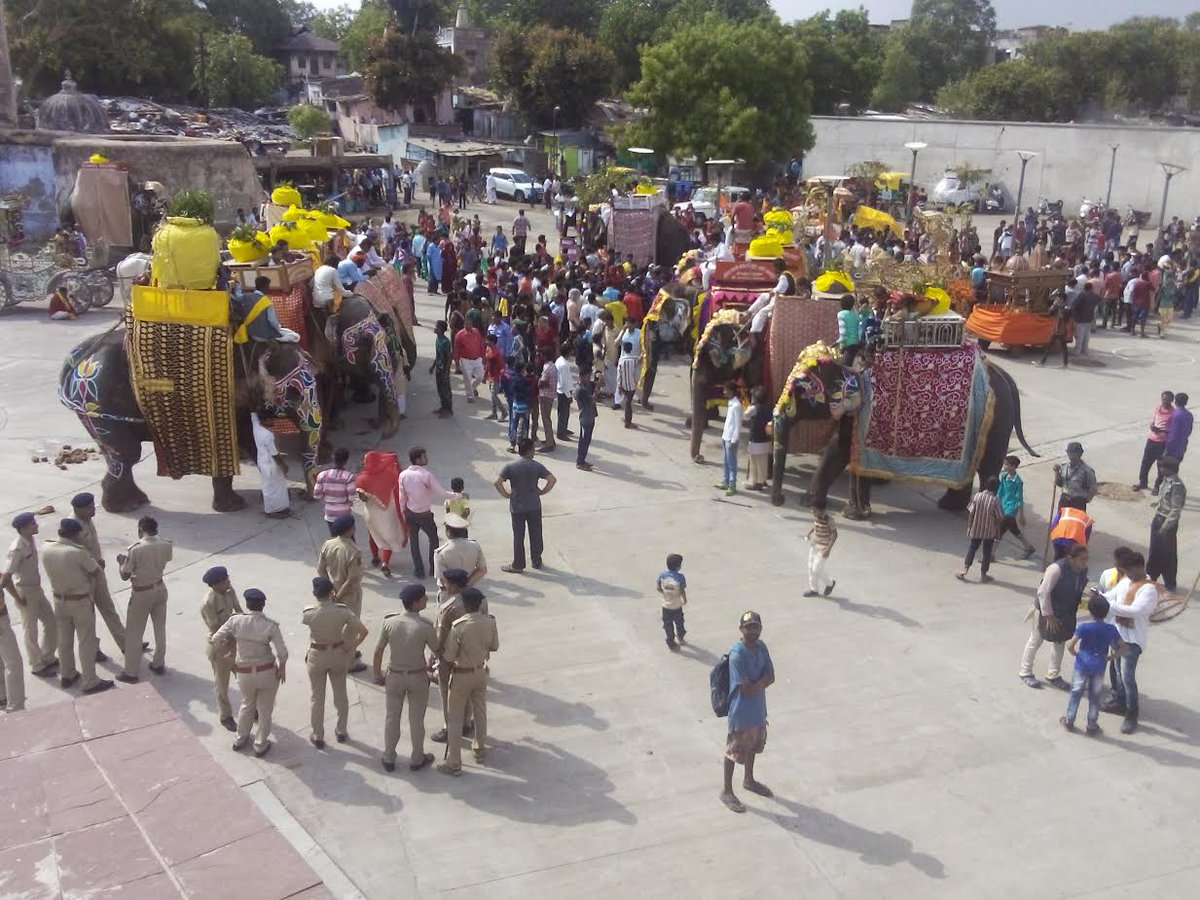 Lord Jagannath with brother, sister make symbolic departure to Mosaal on Jal-yatra day in Ahmedabad