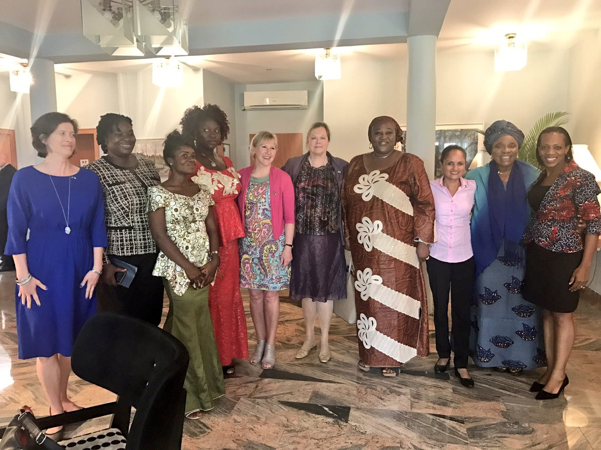 Also had very good meetings today w women leaders and the wonderful staff at the Swedish embassy in Abuja.