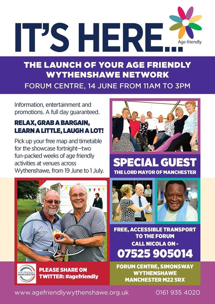 Making Wythenshawe a better place to grow old. AGE FRIENDLY WYTHENSHAWE NETWORK https://t.co/ugmxwGkyHN