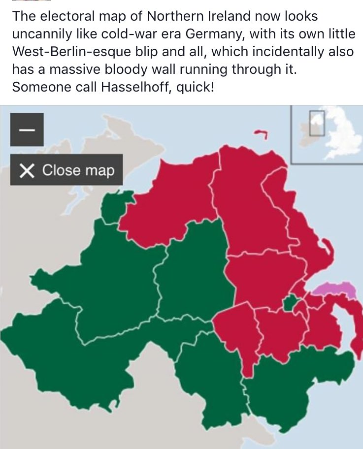 Map Of Germany During Cold War.Hugh Reilly On Twitter N Ireland Electoral Map Now Looks Like Cold