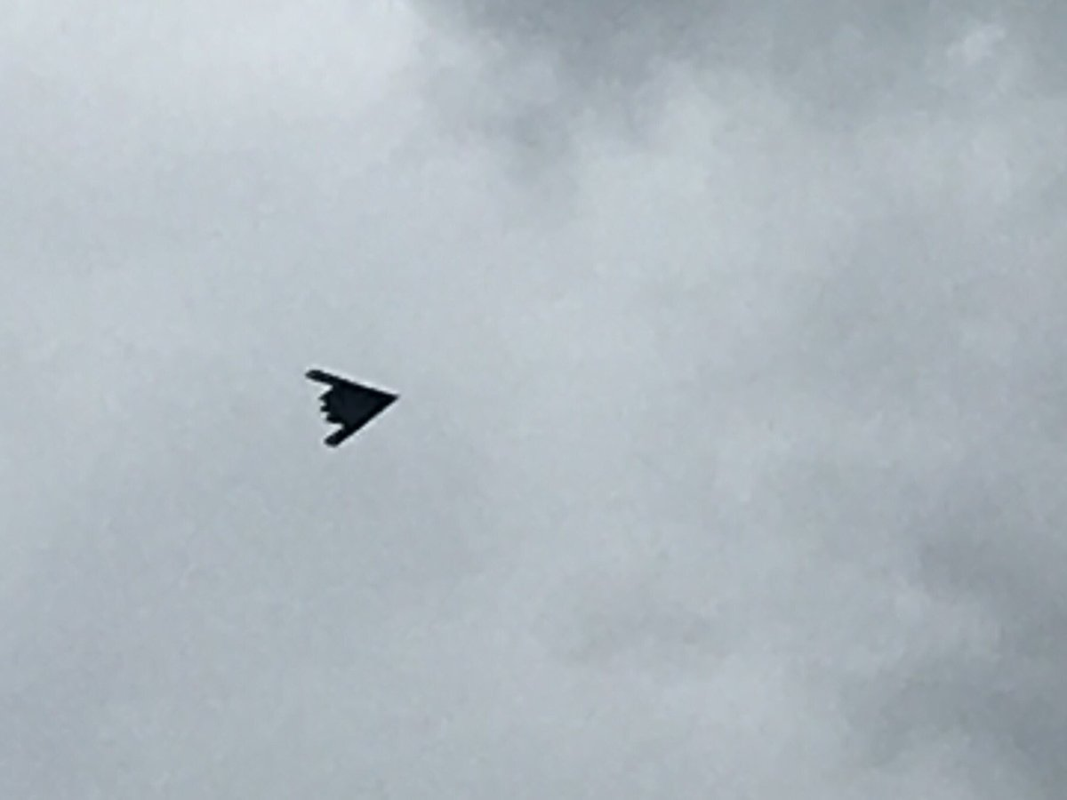 Stealth bomber in the Oxfordshire skies! That might be a little bit of an over reaction to the post election chaos!
