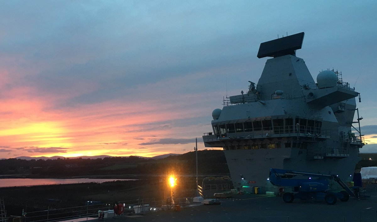 The sun sets on what has been a very successful week for both us as a ship's company and our industry partners.