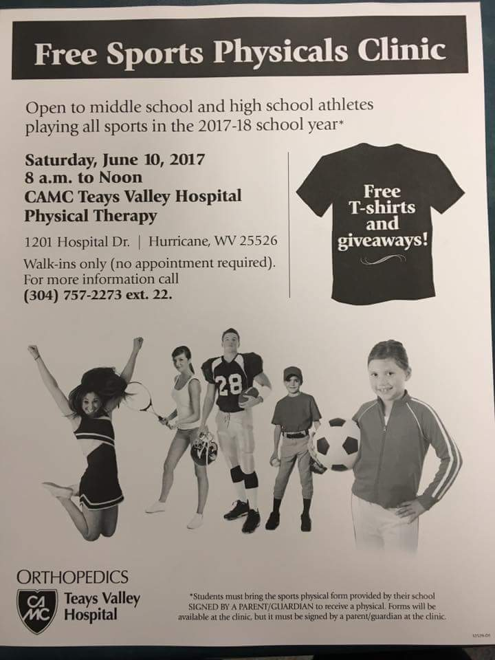 """sports physical form wv  Poca High School on Twitter: """"Her your sports physicals free ..."""