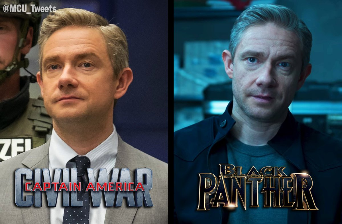 "MCU - The Direct on Twitter: ""#BlackPanther will mark the second appearance of actor Martin Freeman's Everett K. Ross in the Marvel Cinematic Universe… https://t.co/cjdS7PhGjR"""