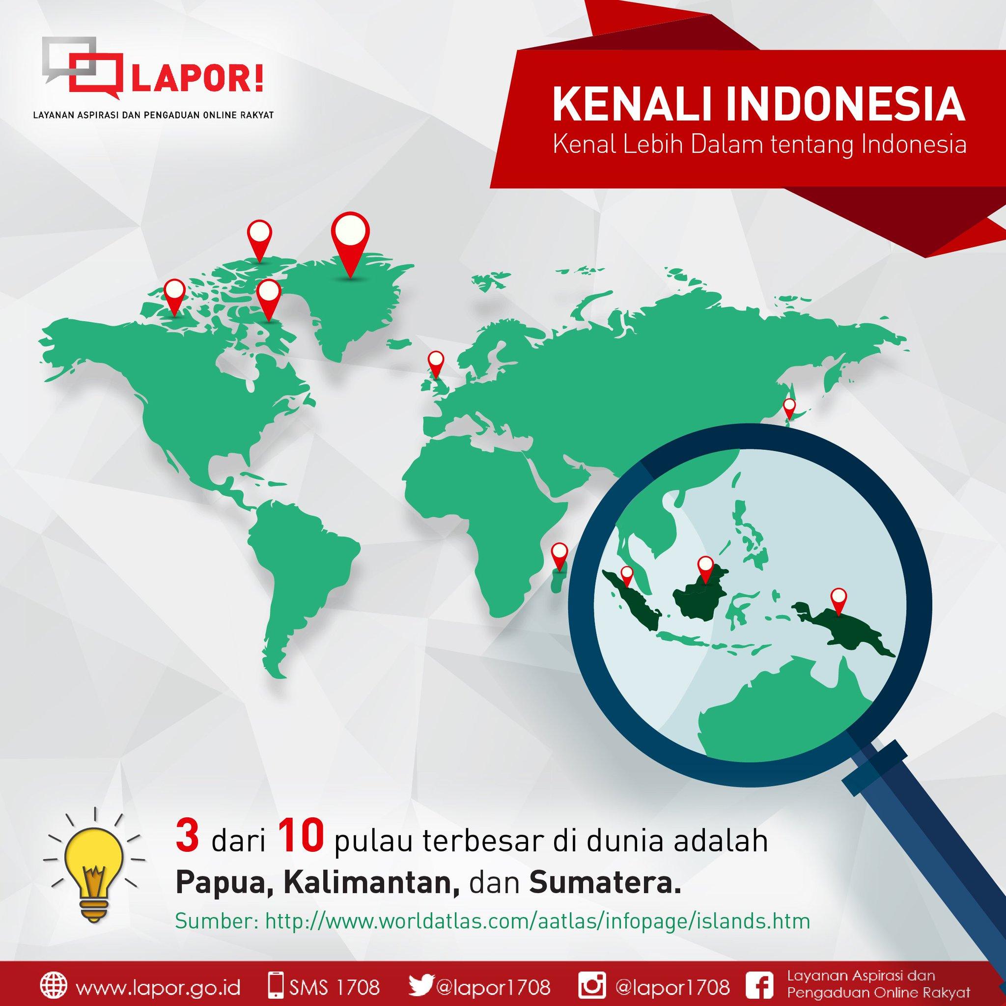Lapor 1708 على تويتر Tahukah Anda Terdapat 10 Pulau Terbesar Di Dunia 3 Diantaranya Berada Di Indonesia Yakni Papua Kalimantan Dan Sumatera Kenali Indonesia Https T Co Krhmtqzldd