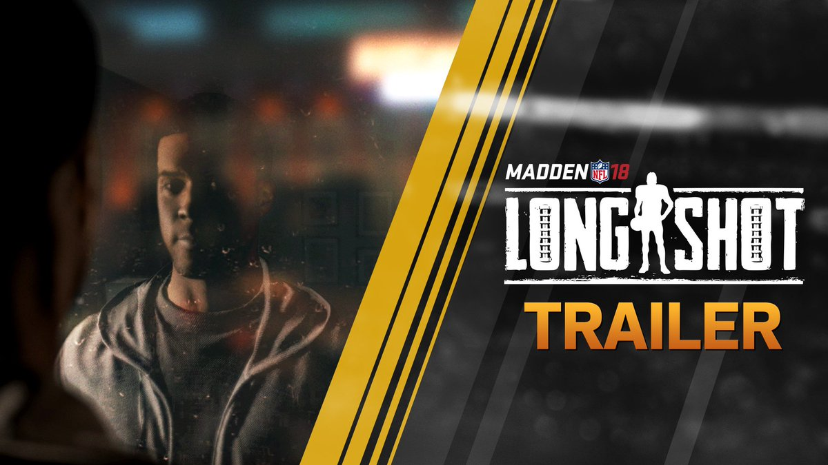 Introducing Madden's first-ever story mode, #Longshot.  A football story you can PLAY. #Madden18 https://t.co/VKla1KJagK