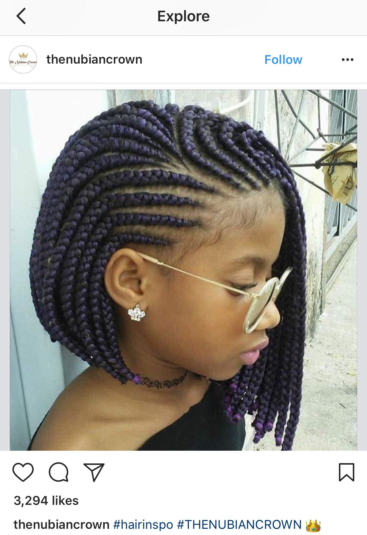 braiding styles for short hair bδκ prophyte on quot cornrow bob a concept 1742 | DB7FG7cU0AAHQVG