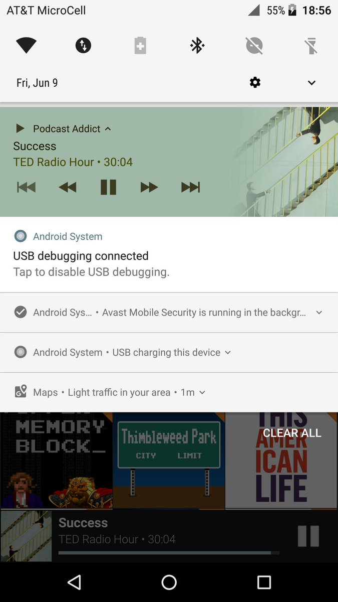 avast is running notification android