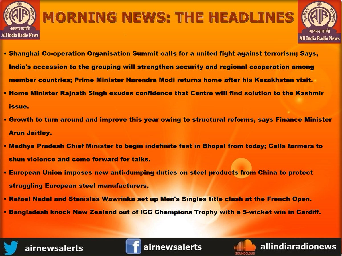 Morning : MORNING INDIA RADIO Morning News | Scoopnest