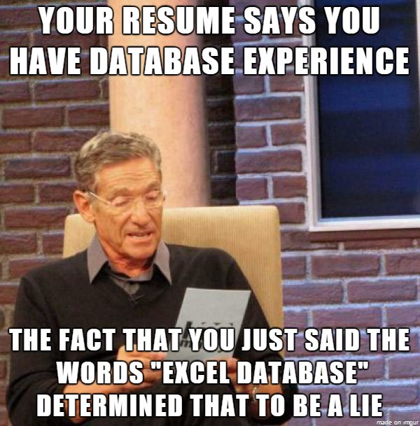 good luck to all the database engineers out there who are looking for work humour sysadmin dba httpstco0koxhcbgms
