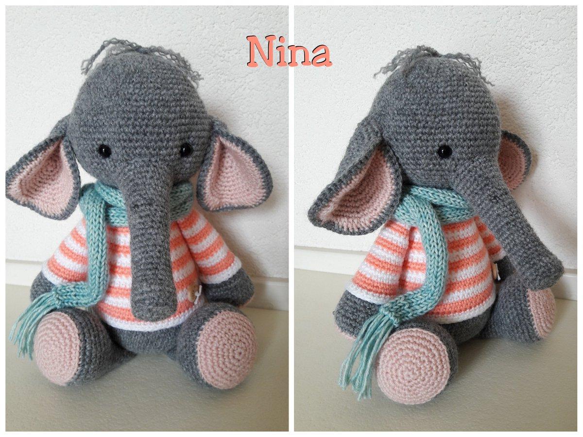 Crochet Pattern Elephant Nina | Etsy | 900x1200