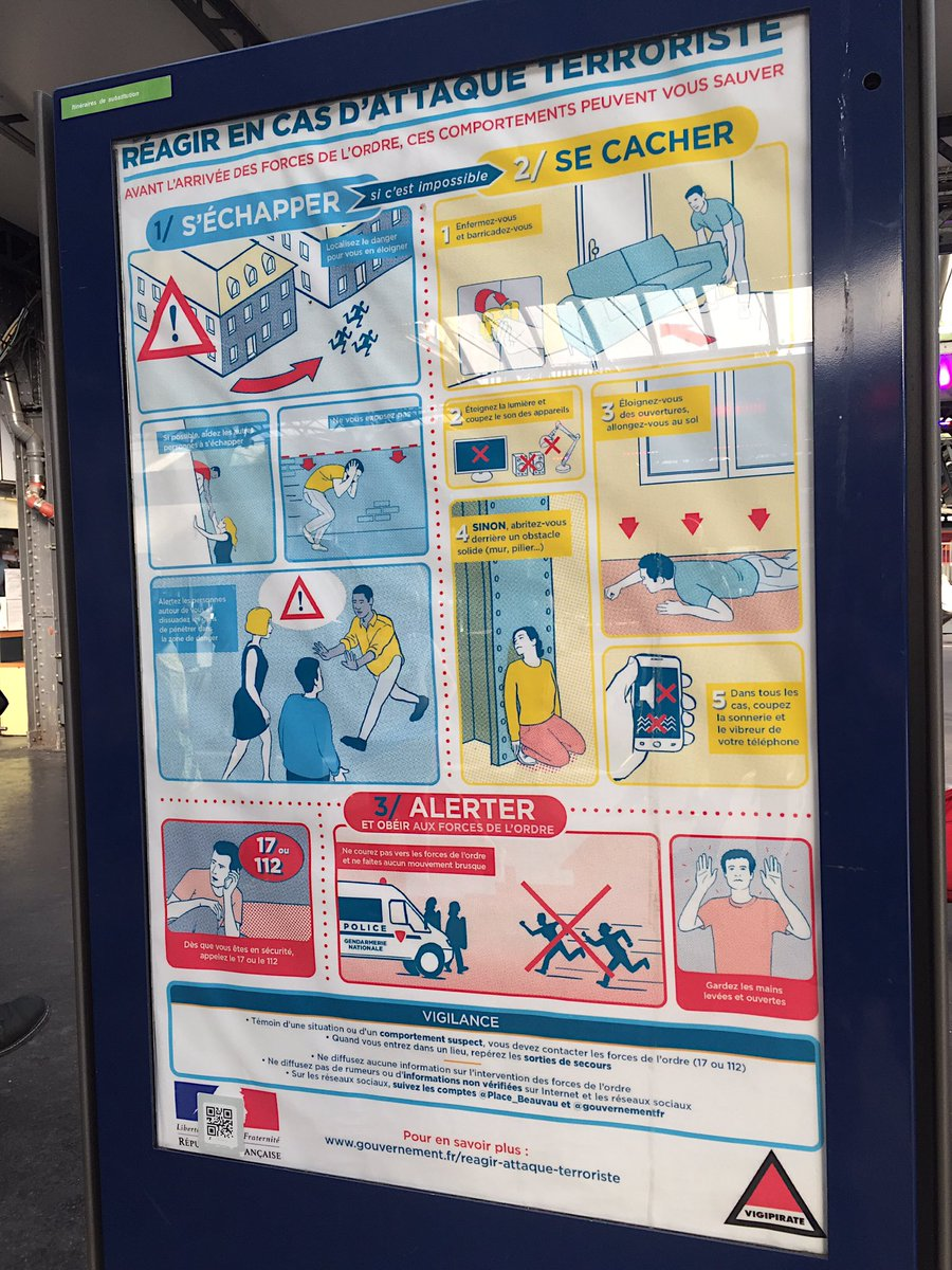 Should I be reassured or scared by this sign?  #vigipirate #paris #GaredeLEst #SNCF #RATP #whatisthisworldcomingto<br>http://pic.twitter.com/JB9lv1ObF1
