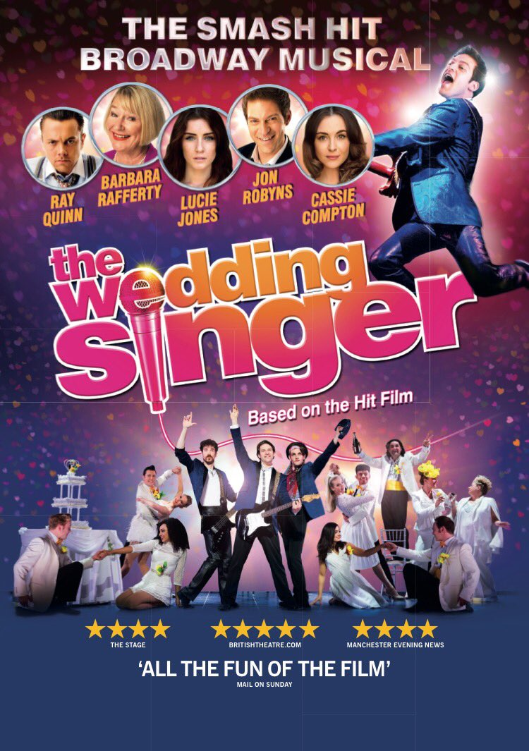 Trailer THE WEDDING SINGER Staring Ray Quinn Lucie Jones Barbara Rafferty APAWhatsOn Youtube F6qwRda XU Theweddingsingermusicalcouk