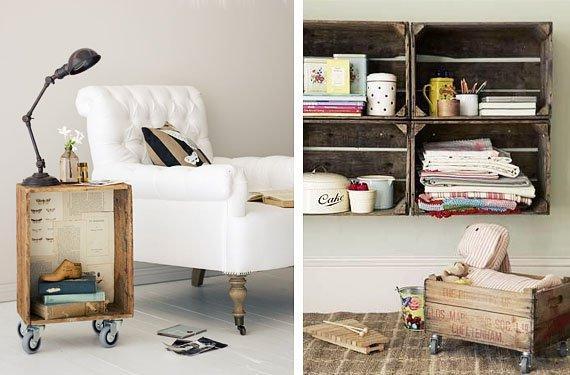 Cómo hacer muebles con cajas de madera de forma fácil